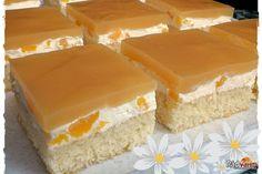 Broskyňové (Žravé) rezy ktoré budu mať problém vychladnúť   recept   RadVarim.sk Vanilla Cake, Treats, Sweet, Vanilla Sponge Cake, Sweet Like Candy, Sweets