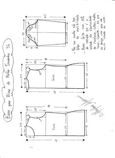molde, corte e costura - Marlene Mukai : Base para blusa de malha