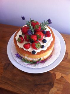 Decorated Mary Berry Victoria Sandwich