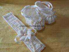 Simoni crochê: Conjunto para batizado em crochê