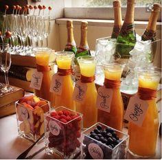 Mimosa Bar, Mimosa Brunch, Mimosa Champagne, Bellini Bar, Bubbly Bar, Champaign Bar, Sangria Bar, Bridal Brunch Shower, Brunch Baby Showers
