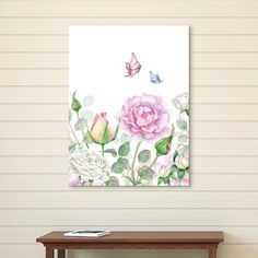 """""""Watercolor Roses"""" Cuadro por Zenapatch"""
