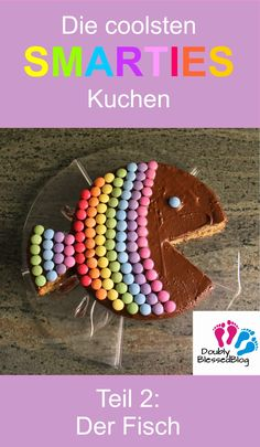 The coolest birthday cakes: the rainbow fish - The coolest SMARTIES cakes – colorful and sweet! Part The Rainbow Fish – Baking a cake for t - The Rainbow Fish, Birthday Tags, Cool Birthday Cakes, Fish Cake Birthday, Rainbow Birthday, Smarties Cake, Pear Cake, Cake Games, Pumpkin Spice Cupcakes