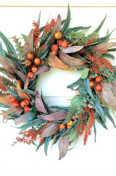 Autumn Wreaths For Front Door, Fall Wreaths, Greenery Wreath, Burlap Wreath, Burlap Pumpkins, Peonies And Hydrangeas, Eucalyptus Wreath, Berry Wreath, Pumpkin Wreath