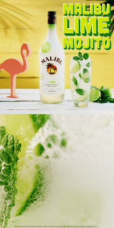 Give your celebration an extra twist with new Malibu L… Friends. Give your celebration an extra twist with new Malibu Lime! Mojito, Drinks Alcohol Recipes, Non Alcoholic Drinks, Bar Drinks, Cocktail Drinks, Cocktail Recipes, Malibu Rum, Malibu Drinks, Summer Drinks