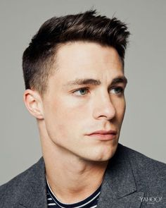 Colton flashes his famously chiselled chin (and jawline and cheekbones but who's counting). Colton Haynes Photography Ryan Pfluger Styling Christopher Kim Grooming Kumi Craig http://coltonhaynes-my-obsession.tumblr.com/