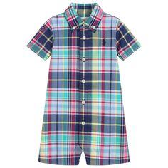 9514e05c2 Ralph Lauren - Baby Boys Blue Cotton Shortie