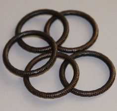 5 pcs of Antique copper pewter rings 29mm by yadanabeads on Etsy, $3.50