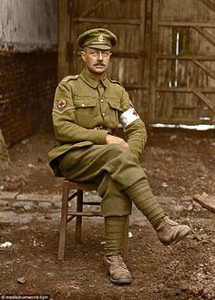 The photographs all feature in a moving new book Lost Tommies - written by journalist Ross Coulthart