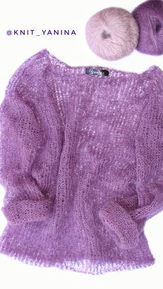Knit mohair sweater. Size S-M. Prise $50. Свитер паутинка из кид мохера на шелке. Размер S-M. Цвет фиолетовый. Мягкий и тёплый. Цена 1250 грн. (3000 руб.). Пишите в Viber +380952234850 #knit_yanina #knit_yanina_паутинка #knit_yanina_свитер #мохеровыйсвитер #оверсайз #вязаныйсвитер #свитер #паутинка Knit Fashion, Fashion Outfits, What Is Fashion, Angora, Popular Outfits, Mohair Sweater, Knit Shirt, Knitted Hats, Knitwear
