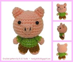 Customer Image Gallery for Amigurumi Pattern for Animal Friends (Easy Crochet Doll Patterns)