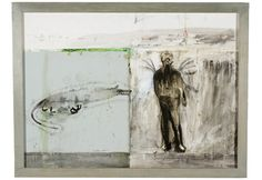 image of work by patrick graham Graham, Irish Art, Announcement, Abandoned, Image, Mixed Media, Paintings, Artists, Models