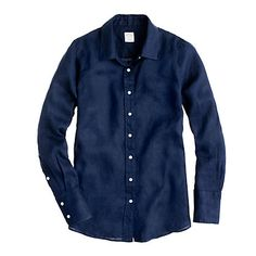 Perfect linen shirt (navy)