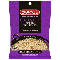 Chang's Gluten Free Fried Noodles Gluten Free Pasta, Gluten Free Diet, Gluten Free Recipes, Kids Pasta, Fried Rice Noodles, Dairy Free Eggs, Vegetable Pasta, Asian Cooking, Fodmap