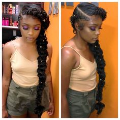 Pretty side pony tail #BlackGalHairstyles