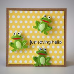 NL Frog Hello Stamped Mini Card