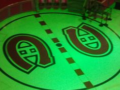 Centre Ice at the Montreal Forum. It is now surrounded by a shopping mall...but it used to be the faceoff circle of the most winningest team in NHL history.