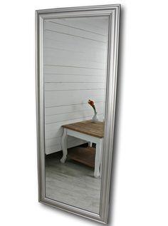 Elbmöbel Wandspiegel Groß In Silber Mit Schlichtem Holz Rahmen 150 X 60cm:  Amazon.