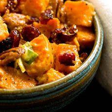 Sweet potato salad with cranberries and pecans Recipe