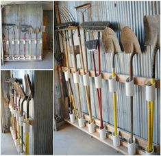DIY garage tool organizer using PVC #diy #home idea