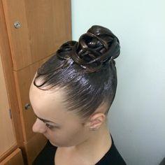 Ballroom high bun hairstyle #ballroom #bun #hair #hairstyle