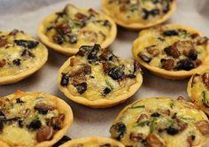 Mushroom Appetizer Tarts with Truffle Oil