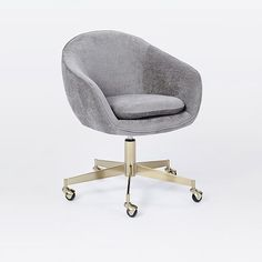 Alys Velvet Swivel Office Chair, West Elm