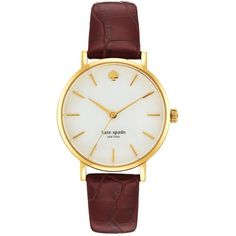 Women's kate spade new york 'metro' embossed leather strap watch, 34mm found on Polyvore