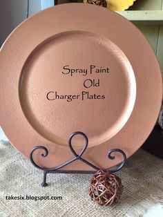 Spray paint old charger plates to match your decor...add and monogram and