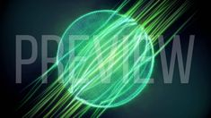 Green Magic Particular Sphere Looping Background