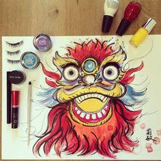 Expired makeup art by Queenie Chan.  Please visit : www.whereisqq.com
