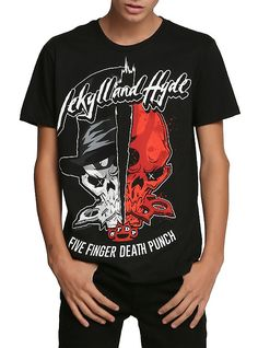 Five Finger Death Punch Jekyll And Hyde T-Shirt, BLACK
