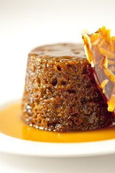 sticky pudding with butterscotch sauce & almond praline....