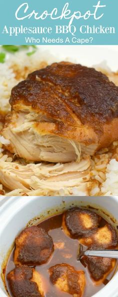Crock Pot Slow Cooker, Crock Pot Cooking, Pressure Cooker Recipes, Meat Recipes, Crockpot Recipes, Cooking Recipes, Chicken Recipes, Dinner Recipes, Crockpot Bbq Chicken