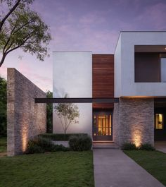 Architizer is the largest database for architecture and sourcing building products. Home of the A+Awards - the global awards program for today's best architects. Modern House Facades, Modern Architecture House, Residential Architecture, Modern House Design, Architecture Design, Contemporary Design, Architect House, Facade House, Home Fashion