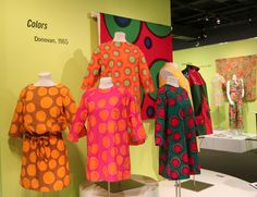 "1960s Marimekko dresses on display in ATHM's ""Color Revolution: Style Meets Science in the 1960s"""