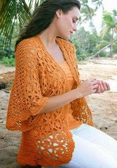 Dream of Summer - Crochet Free Lacy Cardigan Chart and Instructions