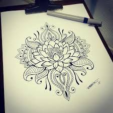 Resultado de imagen de flor de loto tatuaje