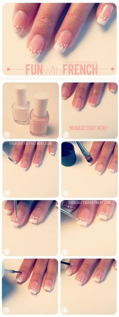 FUN WITH FRENCH!!! #whitetips #nailart #frenchtips #clearnails bellashoot.com