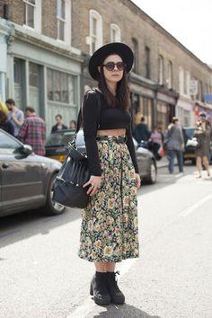 Wish I could wear midi skirts