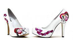 """Pantofi de Mireasa Personalizati - """"Just Married"""""""
