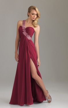 Charming One Shoulder Diamond Sheath Floor-length Dress