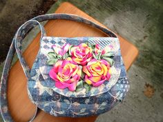 Embroidered bag/ Crossbody bag/ Messenger bag/Canvas tote/shoulder bag/ Fabric purse/floral tote bag/Hobo Bags/ by beautifullbags on Etsy