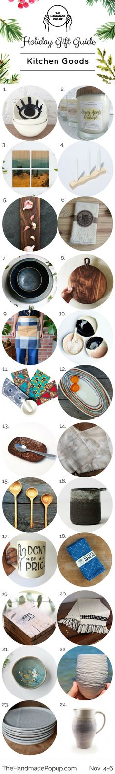 Holiday Gift Guide Kitchen Goods The Handmade Popup 2016