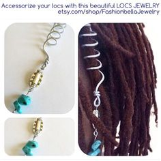 Silver wire locs jewelry, loc jewelry by FashionbellaJewelry on Etsy Loc Jewelry, Unique Jewelry, Jewellery, Tassel Necklace, Pendant Necklace, Locs, Bracelets For Men, Natural Hair Styles, Jewels