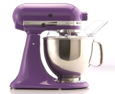 Kitchen Aid Grape colored Mixer >> oh yes!