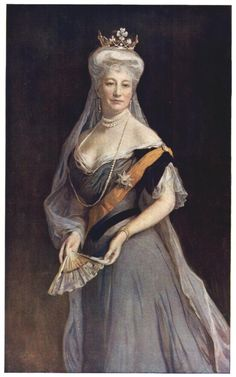 Auguste Viktoria, Empress of Germany and consort of Wilhelm II. Painting by Philip de Lazlo.