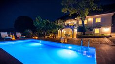 Our View and Outdoor - Villa Natura Zante - Outside there is a paved yard with a new private swimming pool where you can swim all day, enjoy some coctails. Two Storey House, Private Pool, Greek Islands, Swimming Pools, Coastal, Villa, Yard, Exterior, Mansions
