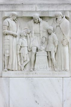 Richard III, bas relief on the exterior of the Folger Shakespeare Library building. Photo by Keith Weller.