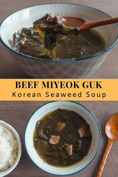 beef miyeok guk (Korean seaweed soup) - My list of the most healthy food recipes Cheap Clean Eating, Eating Fast, Clean Eating Snacks, Seaweed Soup Recipe, Korean Soup Recipes, Asian Recipes, Korean Seaweed Soup, I Love Food, A Food